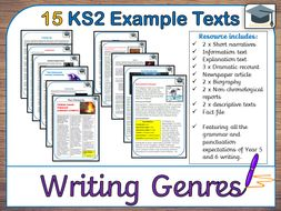 15 Year Five and Six example creative writing texts (Fiction & Non-Fiction - KS2)