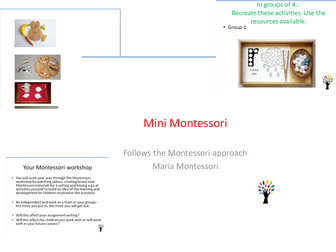 Montessori workshop for childcare/ childhood studies/ theory study