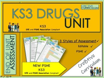 KS3 Drugs Unit PSHE Assessments