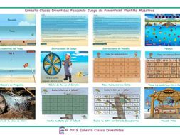 Fishing Spanish PowerPoint Game Template-An Original by ESL Fun Games