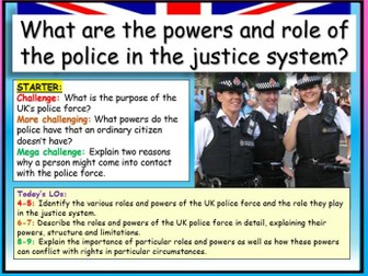 Police + Justice System  AQA Citizenship GCSE