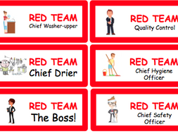 Food Lesson Responsibility Badges