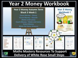 Money: Year 2 - Autumn Term -  Workbook - White Rose Maths