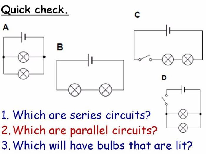 electricity series and parallel circuits year 7 lesson powerpoint rh tes com Parallel Circuit Diagram Worksheet Drawing Circuits Worksheet