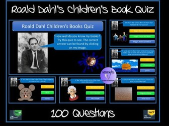 Roald Dahl Children's Books Quiz - Bumper 100 Question Quiz - Ideal for Roald Dahl Day / Book Day