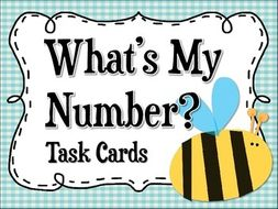 Mystery Number Task Cards: Place Value