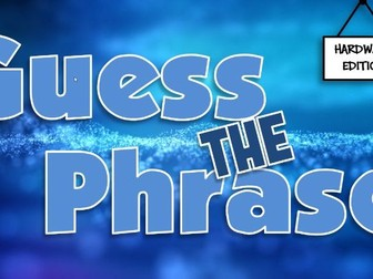Guess the Phrase Quiz - Computer Hardware