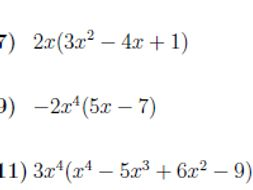 Multiplying expressions with powers worksheet (with solutions)