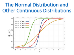 The Normal Distribution and Other Continuous (Statistics)
