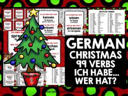 GERMAN VERBS CHRISTMAS I HAVE WHO HAS