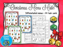 Christmas Menu Maths (money, decimals)