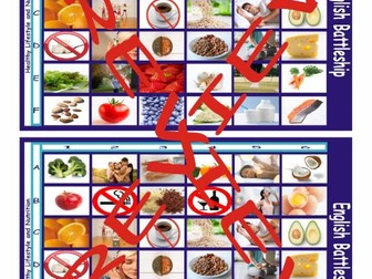 Healthy Lifestyle and Nutrition Battleship Board Game