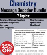 Chemistry: Science Message Decoder Bundle