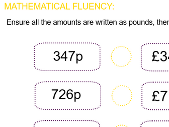 Summer Block: Y4 Block  2 Money Smart Notebook and PDF files following ORDER of White Rose