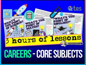 Careers in English, Maths and Science