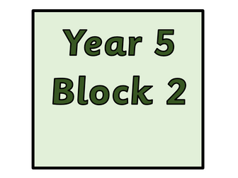 Year 5 - Block 2 - Addition and Subtraction