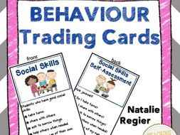 Behaviour Trading Cards: Mini Anchor Charts and Self-Assessment Questions