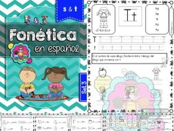 Spanish Phonics Book Set #3: Letras s & t