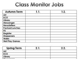 Class Monitor Jobs