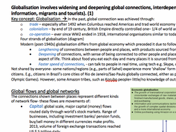 Globalisation Revision Notes- Geography 2016 Edexcel AS/A Level