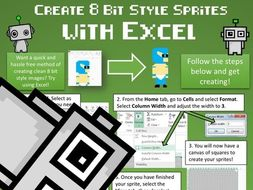 Digital Competence Poster: Create 8 Bit Style Graphics with Excel!