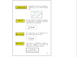 Mastery Maths Vocabulary Booklet to enhance subject knowledge