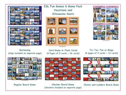 Vacations and Site Seeing Spots 6 Board Game Bundle