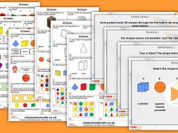 FREE Year 1 3D Shapes  Autumn Block 3 Step 1 maths Lesson Pack