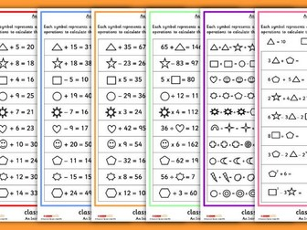 Year 6 Introduction to Algebra Differentiated Worksheets