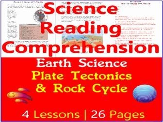 Earth Science Reading Passages   Plate Tectonics & Rock Cycle   Grade 5-6