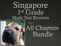 Singapore ath 1st Grade Math Test Review Bundle