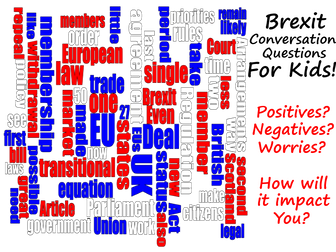 Brexit Conversation Ideas - Children think about the positives and negatives of the Brexit.