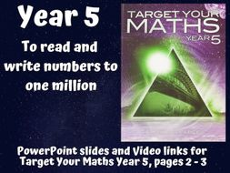 To read and write numbers to one million (Target Your Maths Year 5)