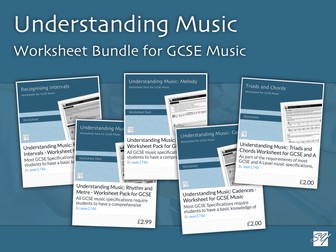 Understanding Music – Worksheet Bundle for GCSE Music