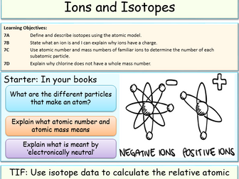 Isotopes and Ions