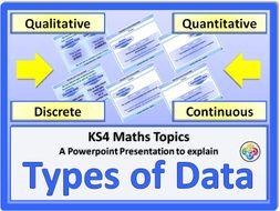 Types of Data KS4