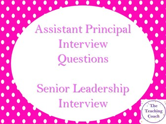 80 SLT Senior Leadership Interview Questions