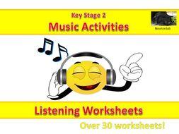 Music Listening Worksheets - Key Stage 2