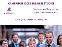 complete igcse business studies 0450 summary of key terms pdf format
