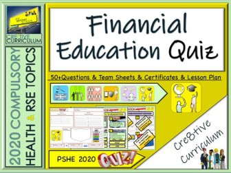 End of Year Financial Education Quiz
