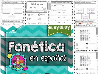 Spanish Phonics Book Set #15: Diptongos ei,ey,ui,uy