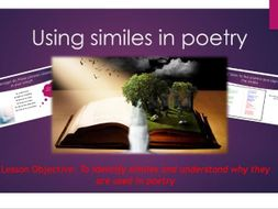 English- Using similes in poetry