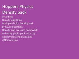 Density:  Hoppers Physics bundle