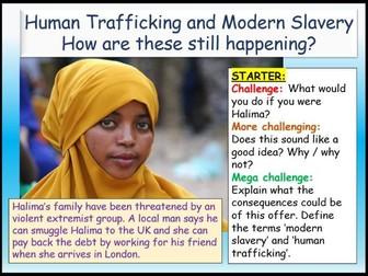 Human Trafficking + Modern Slavery