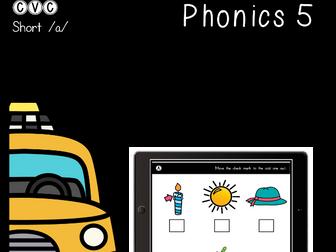 CVC Short A - Digital Center - Odd One Out - Phonics (Google Classroom)