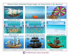 Past-Simple-Tense-with-Verbs-Ser-and-Estar-Spanish-Treasure-Hunt-Interactive-PowerPoint-Game.pptx