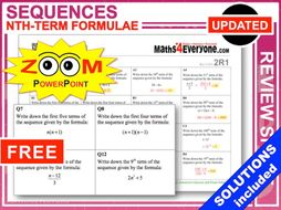 GCSE Revision (Using nth Term Formulae)