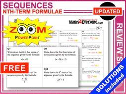 GCSE Revision (Using nth Term Formulae)