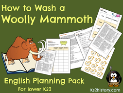 'How to Wash a Woolly Mammoth' Planning Pack (Stone Age Instructions)