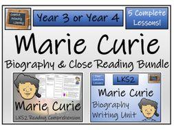 LKS2 Science - Marie Curie Reading Comprehension & Biography Bundle